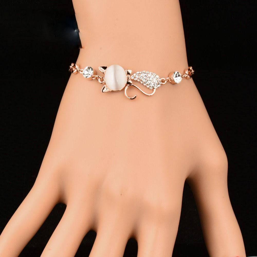 Sk cat bracelet k gold plated products pinterest unisex