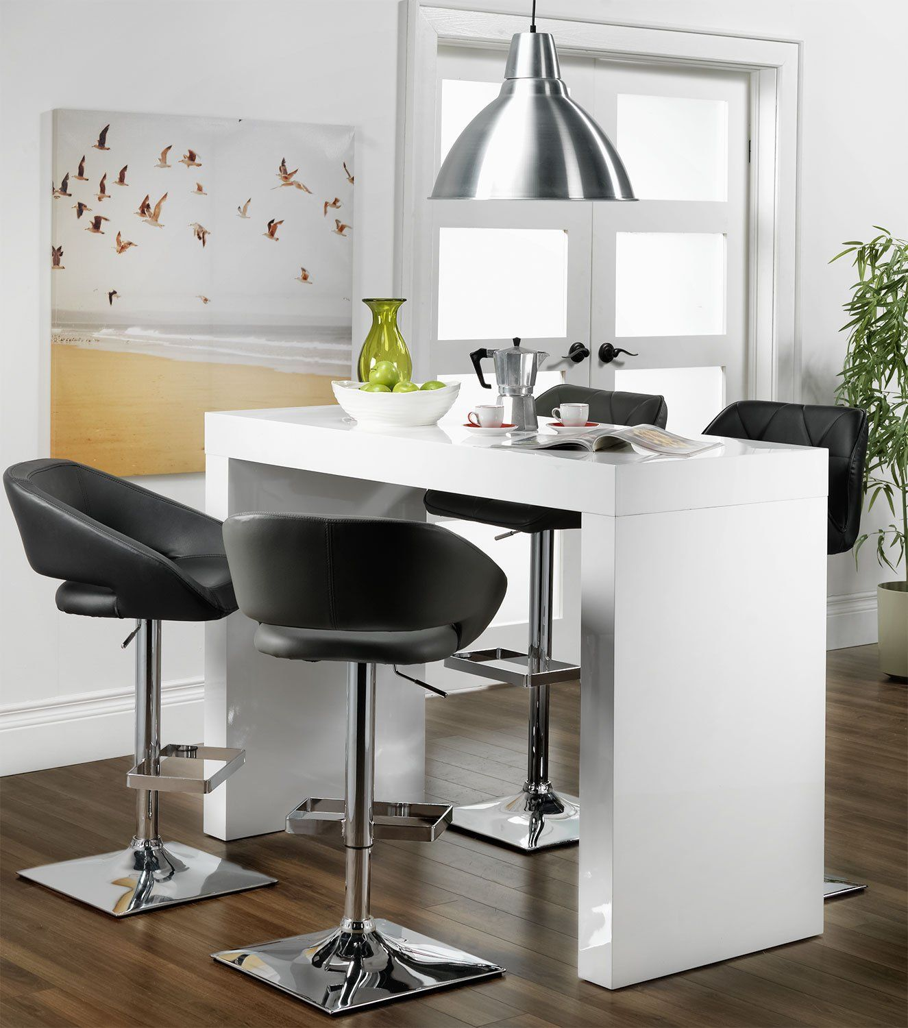 Emile Bar Table   White   Bar table and stools, Breakfast bar ...
