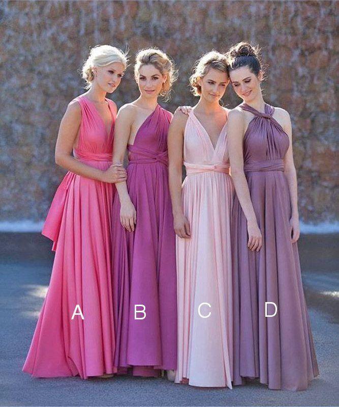 Long Bridesmaid Infinity Dress Convertible Wrap Multiway Cocktail ...