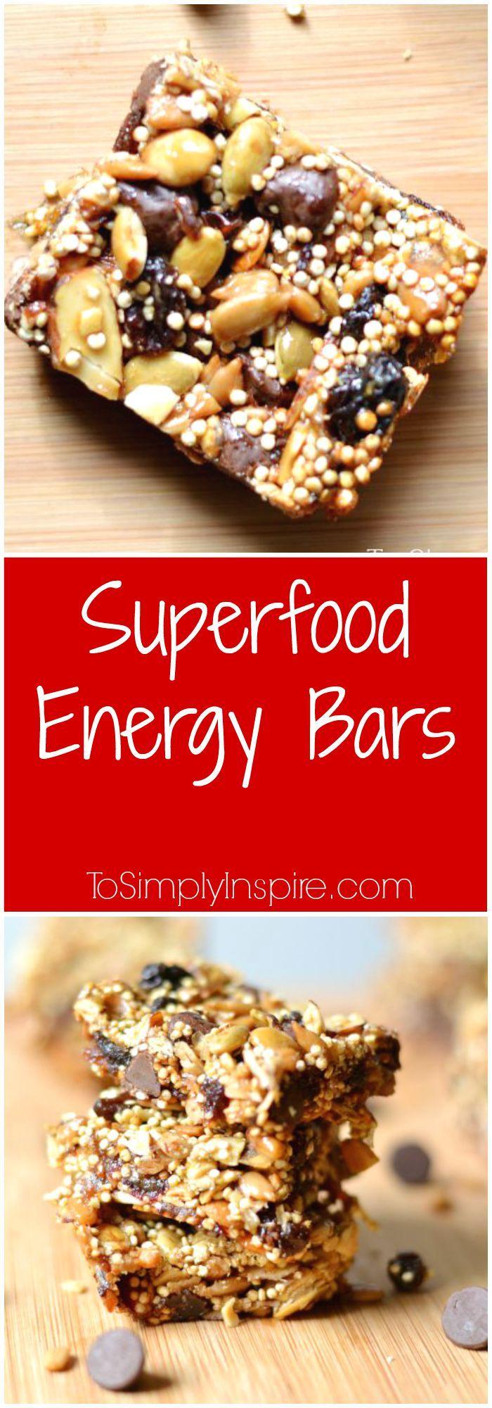 Superfood Energy Bars Recipe Honey Bar And Chocolate