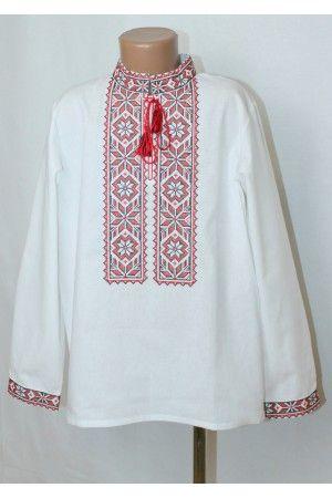 «Оберіг» з червоним орнаментом – вишиванка для хлопчиків з традиційною  вишивкою. Завжди в 58de6e31a40a7