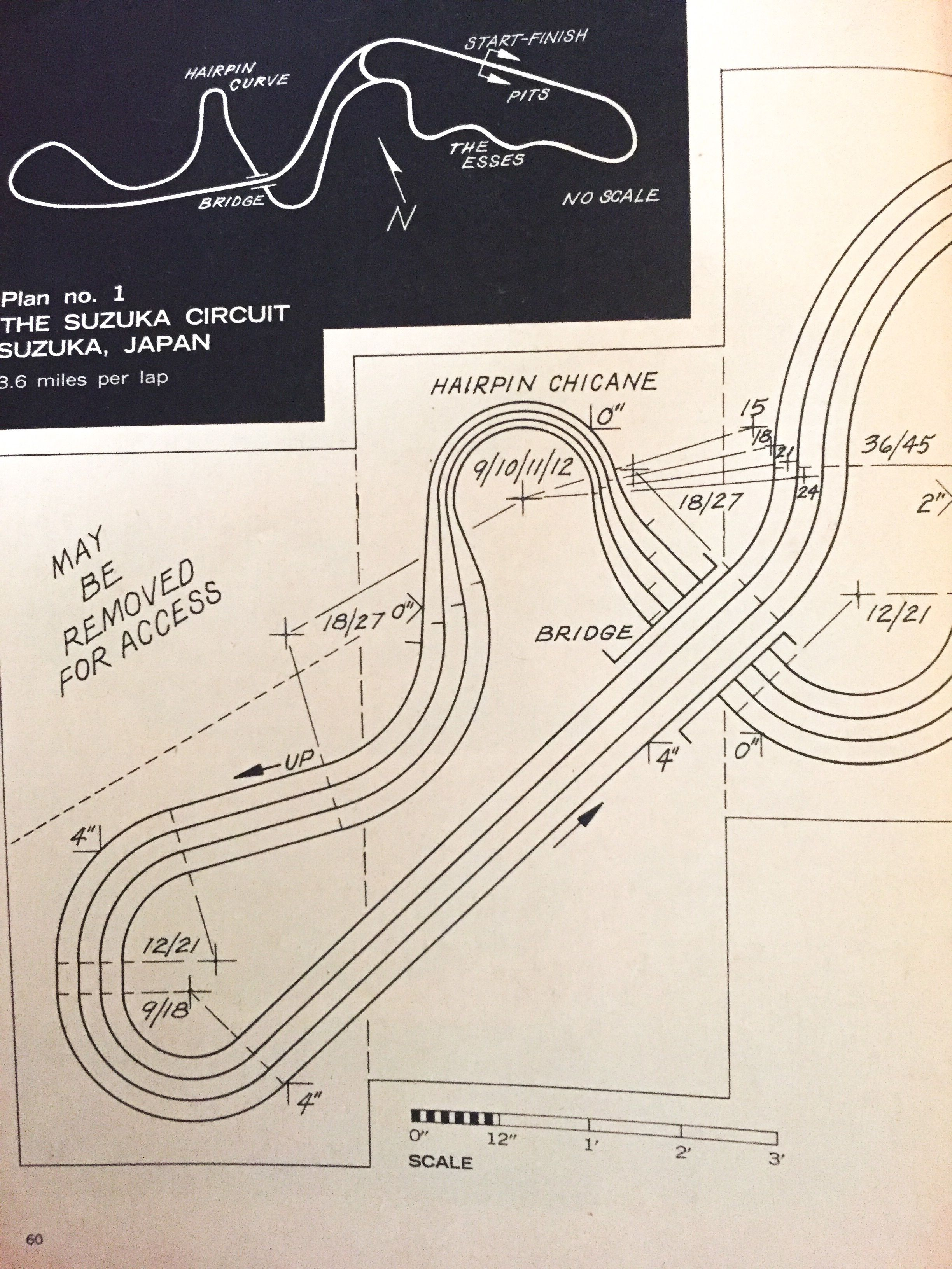 suzuka slot car track plans page 1    model car & track may 1965