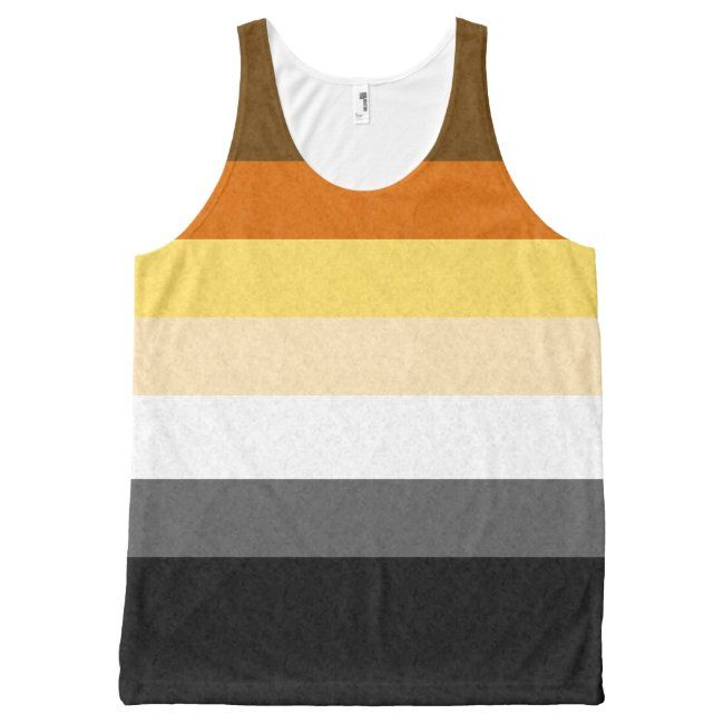 Gay Bear Pride Flag All-Over-Print Tank Top | Zazzle.com