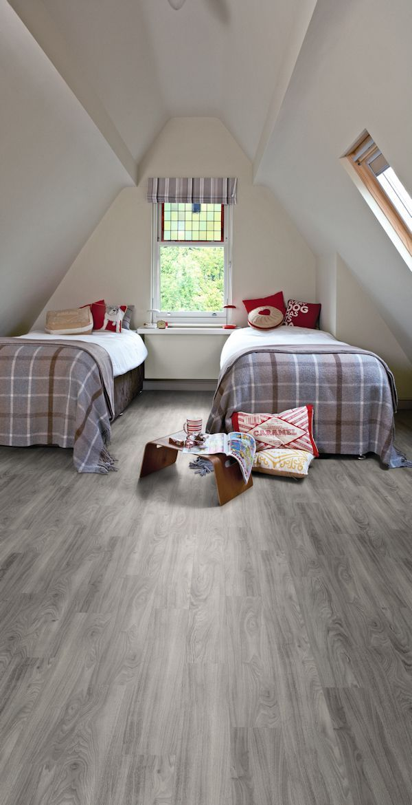 Luxury Vinyl Tile Grey I Love The Color And Much Cheaper Practical And Easy To Care For Than Har Bedroom Flooring Tile Bedroom Luxury Vinyl Plank Flooring
