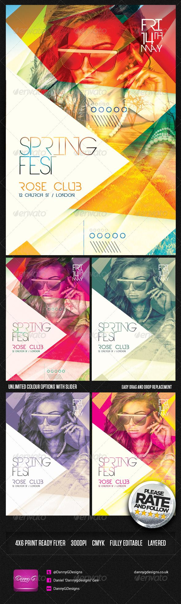 Spring Fest Flyer Template Psd  Photoshop Psd Spring Flyer Psd
