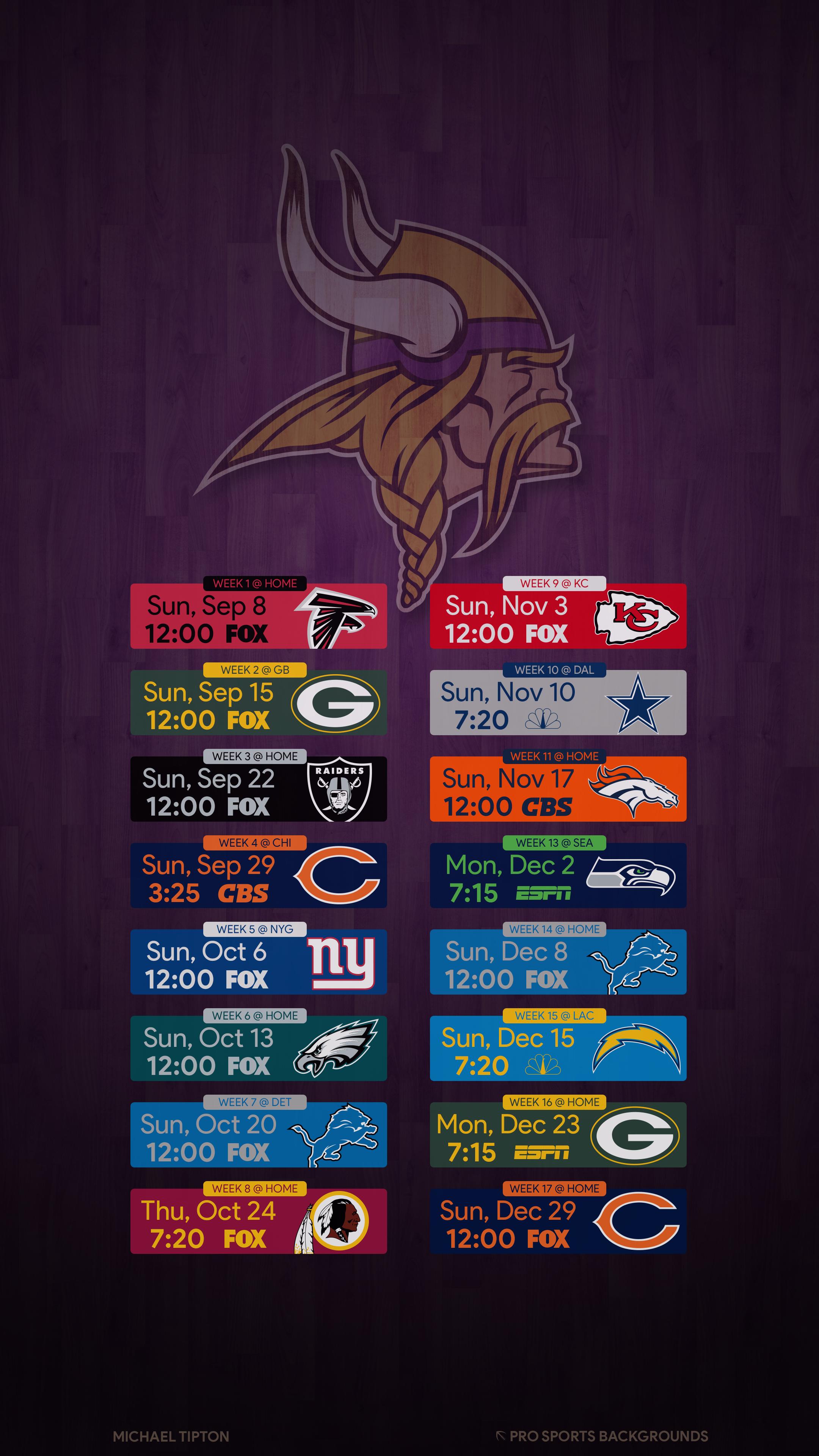 2019 Minnesota Vikings Wallpapers
