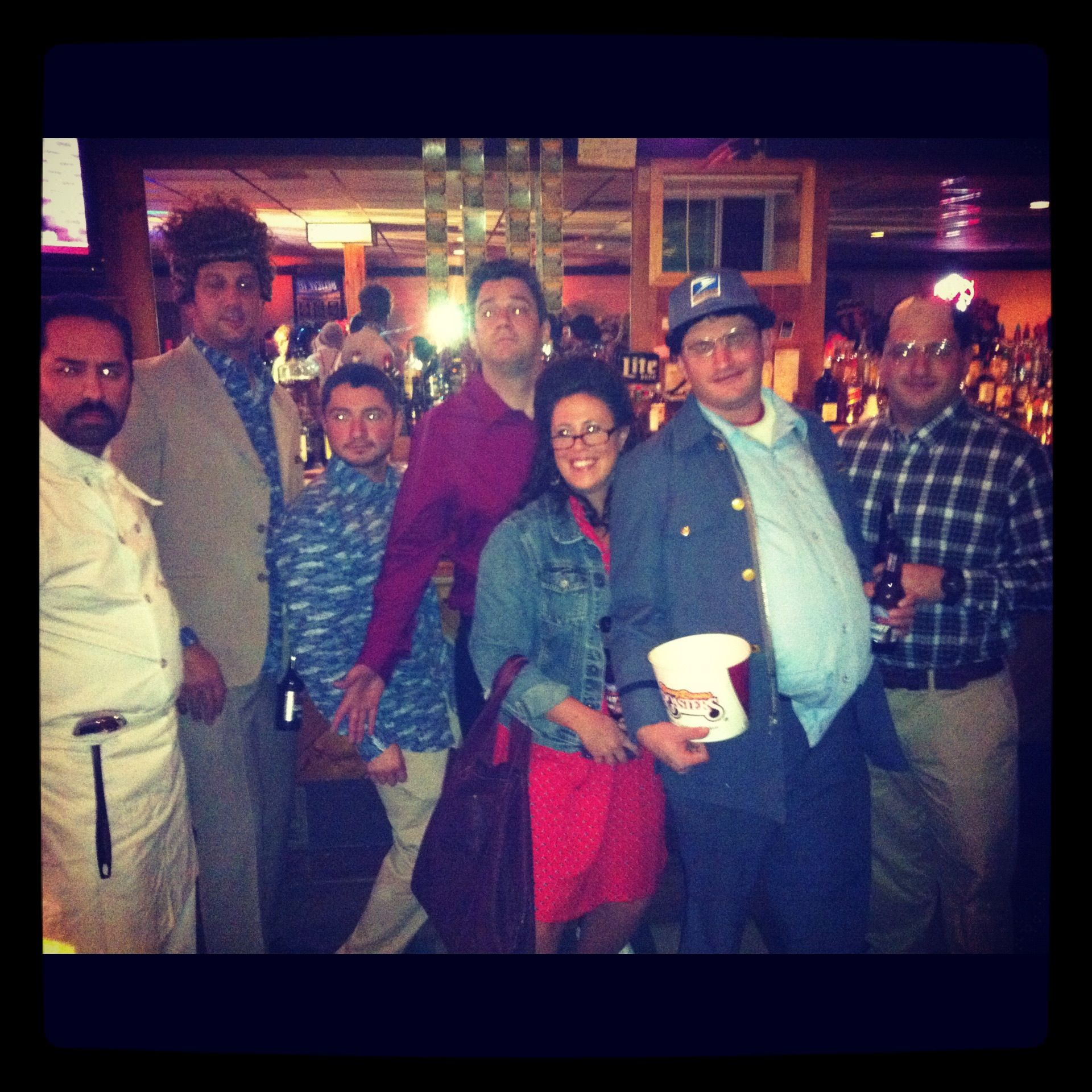 Seinfeld group halloween costume won first prize at the party I ...