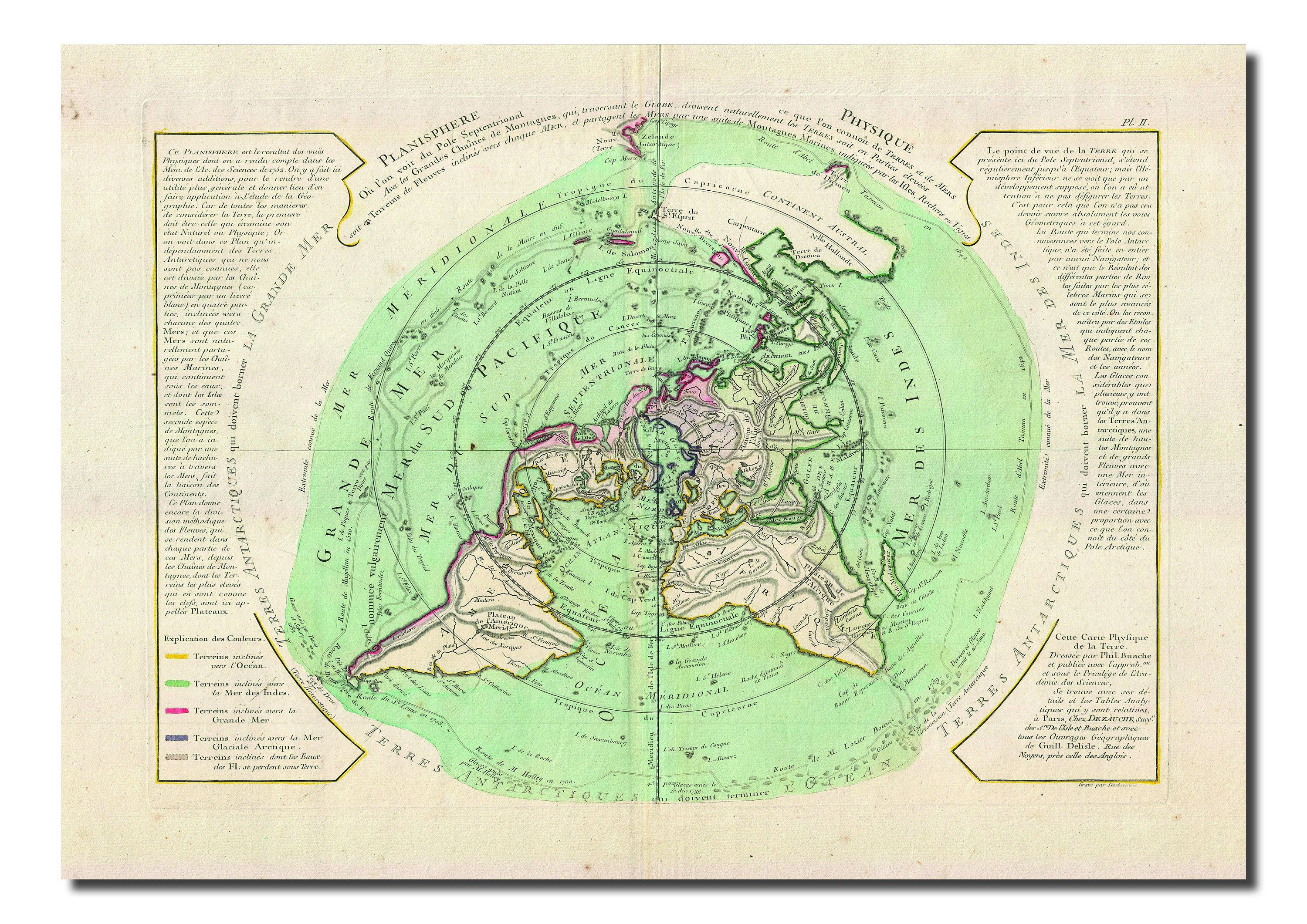 1 Flat Earth Maps SET OF 2 MAPS- Flat Earth Map 24 x 36 Gleasons New Standard Map Of The World 24 x 18 Map of the Square and Stationary Earth by Orlando Ferguson