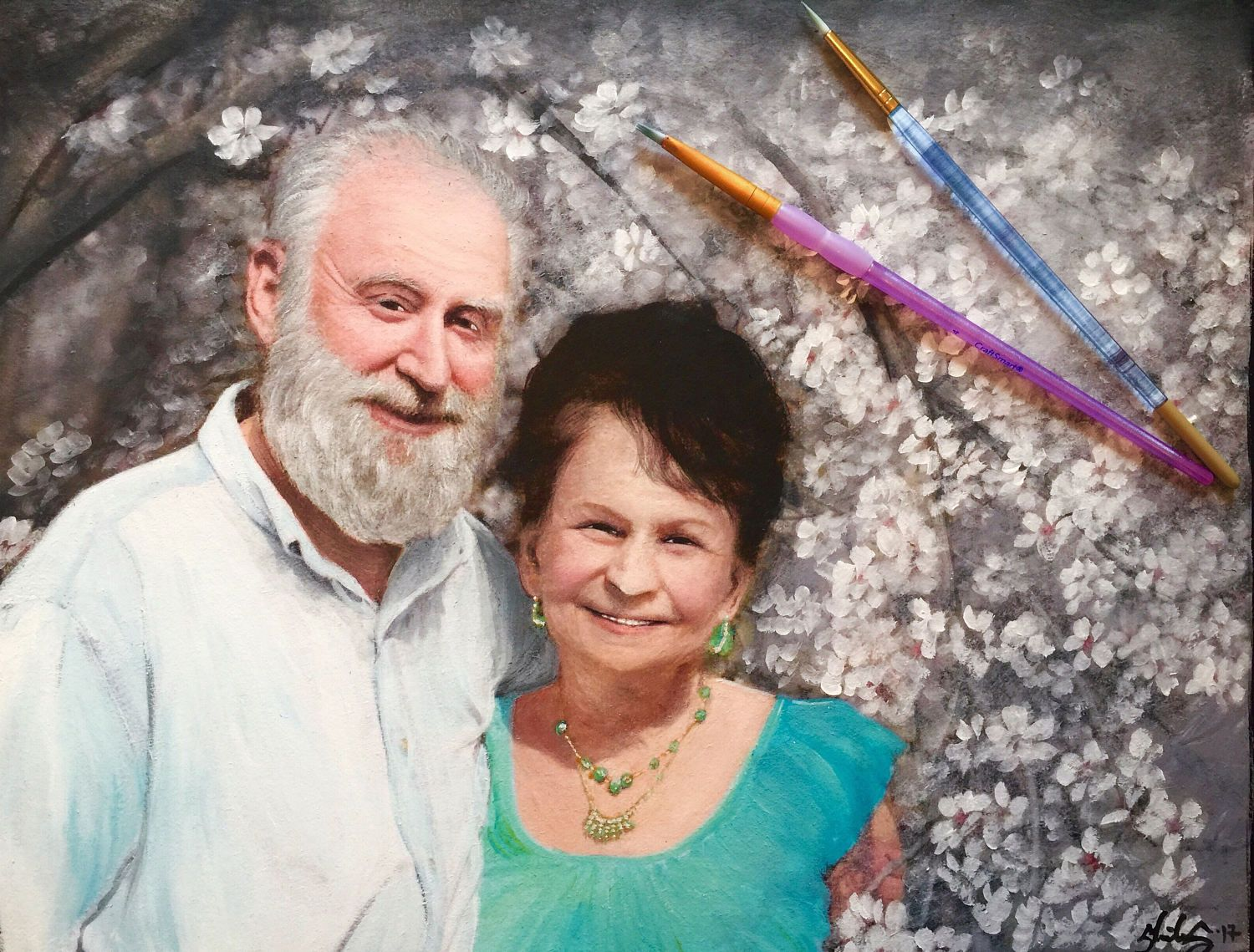 Image result for painted portrait couple