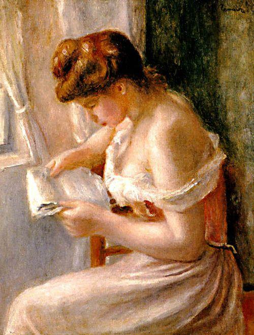 Mujer Leyendo.  Renoir (1895)