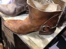 Need!! Distressed leather boot with buckle detail