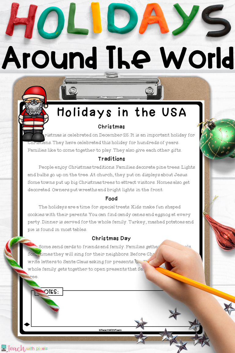 Holidays Around The World Close Reading Close Reading Elementary Elementary Reading Reading Passages [ 1152 x 768 Pixel ]