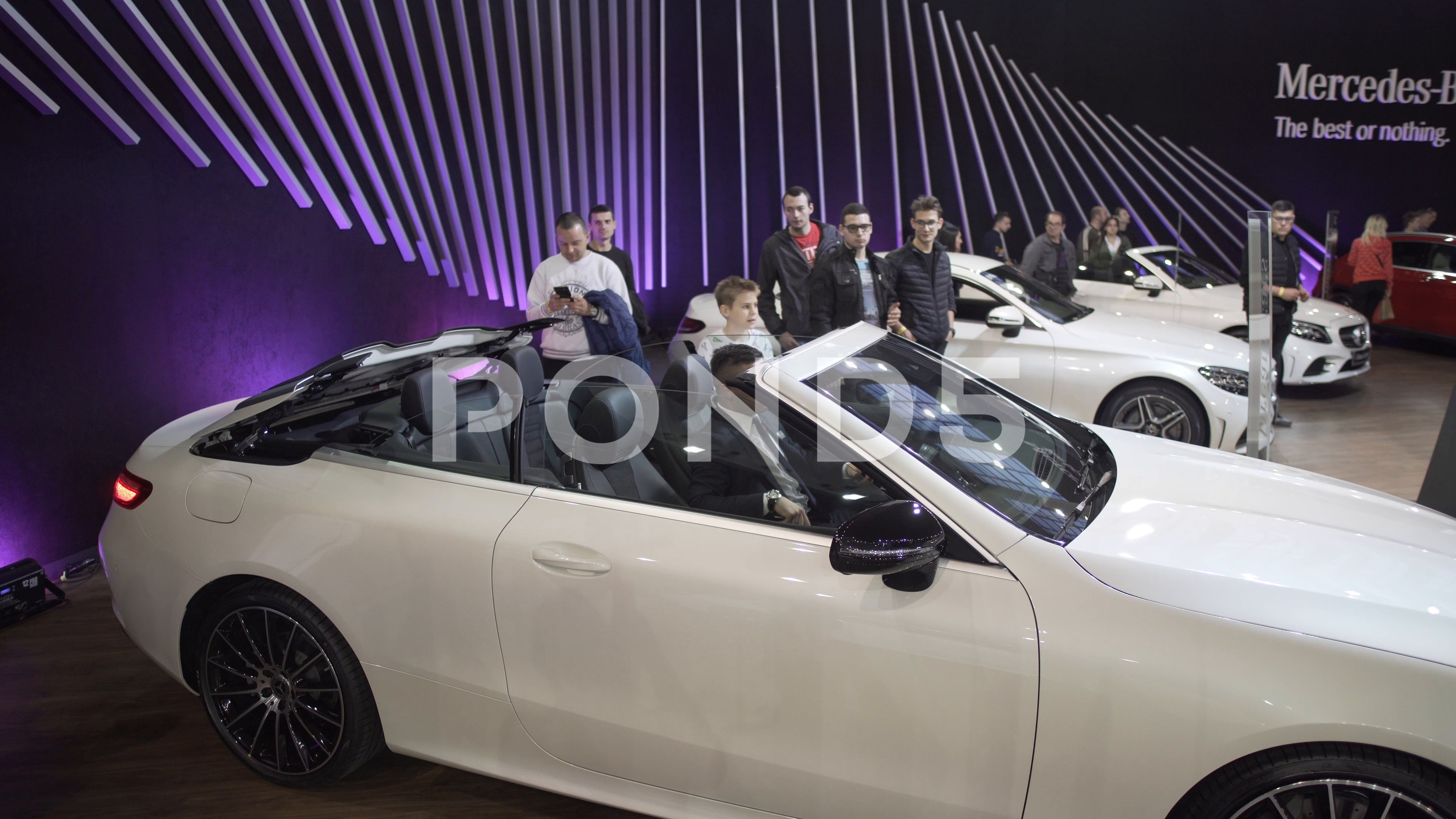 Car Show Serbia Belgrade 2019 Opening The Roof Of The Convertible Car Stock Footage By Droneye Car Show Car Belgrade