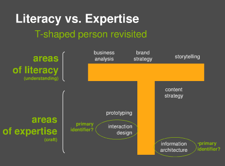 Literacy Expertise TShaped Person Skills Job Description