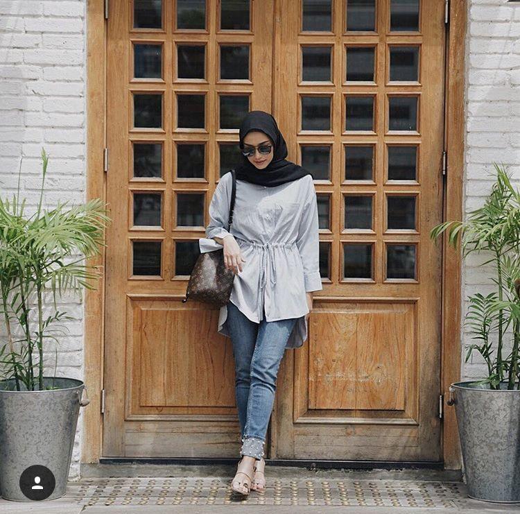 Megaiskanti Casual Hijab Outfit Pakaian Kasual Gaya Busana