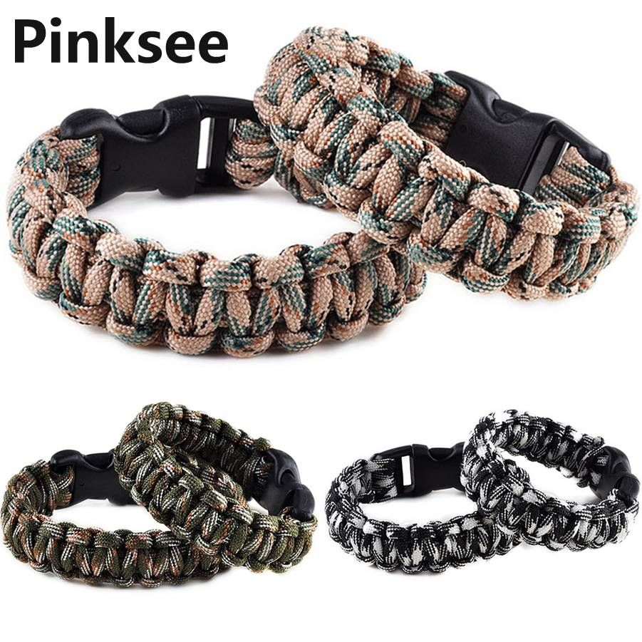 1pc Retail Cobra Paracord Bracelets Kit Military Emergency