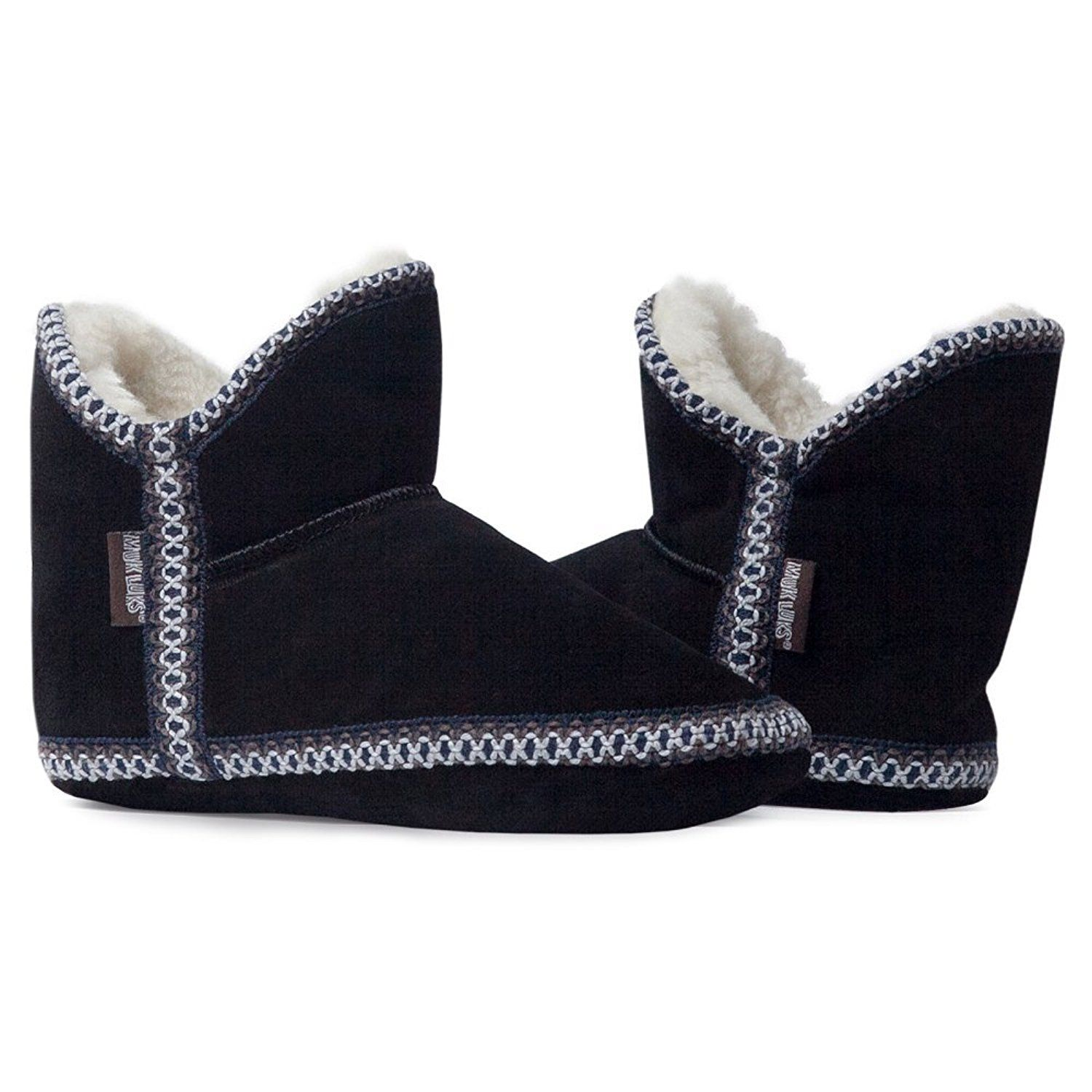MUK LUKS Womens Suede Amira Bootie Slipper > Tried it! Love it! Click the image. : Women's Shoes