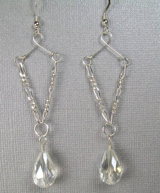 Chain, Wire, and Crystal Teardrop Earrings: Introduction and Supplies