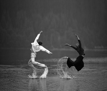 Dancing on water - Black and white, Couple, Dance ...