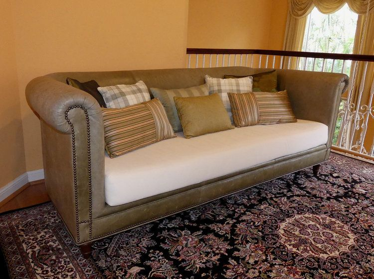 Vintage Lillian August Leather Sofa Made In The Usa Leather