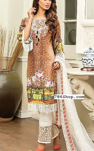 7586f6ccc8 Brown Lawn Suit | Buy Kalyan Eid Collection Pakistani Dresses and Clothing  online in USA, UK