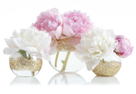 Como fazer vasos com glitter de aquários | UMA CASA IGUAL A SUA