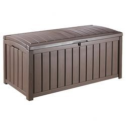 Glenwood Deck Storage Box In Chocolate Outdoor Deck Box Plastic