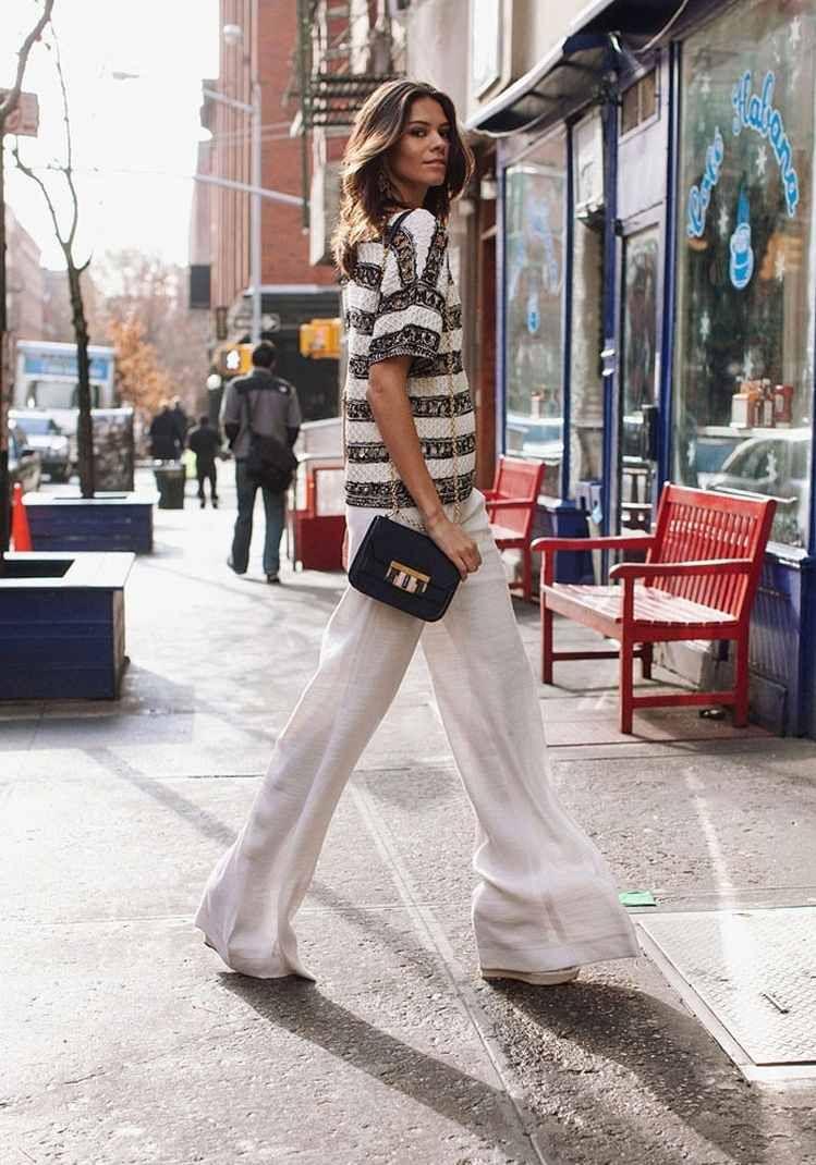 pantalon large femme en lin beige look branché tendance été 2018  fashion   style   8a9c3ba153ac