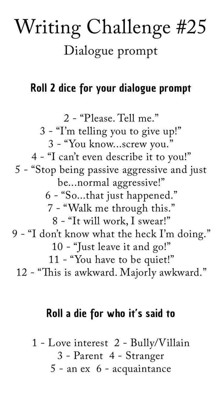 Writing Challenge # 25 - rédaction d'invites
