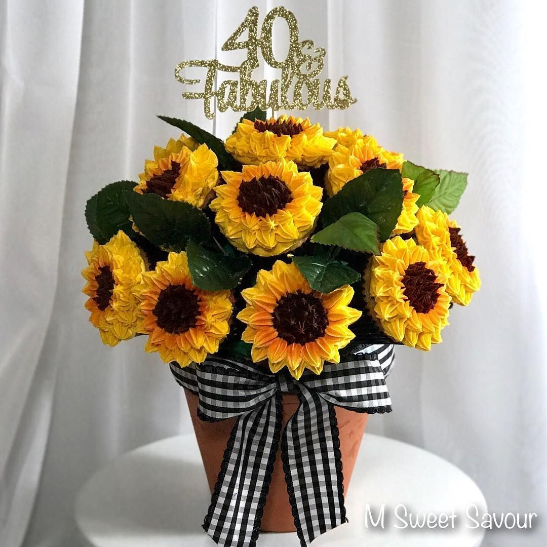 """Maria Capote on Instagram: """"Love how this """"Sunflower Cupcake Bouquet"""" turned out!  Maria Capote on Instagram: """"Love how this """"Sunflower Cupcake Bouquet"""" turned out! #sunflowercupcakes Maria Capote on Instagram: """"Love how this """"Sunflower Cupcake Bouquet"""" turned out!  Maria Capote on Instagram: """"Love how this """"Sunflower Cupcake Bouquet"""" turned out! #sunflowercupcakes"""