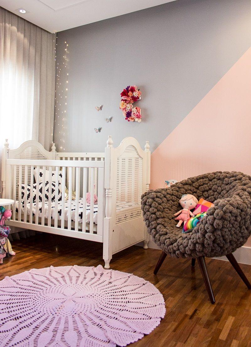 Quarto Da Cec Lia Tem Amomooui Mam E Arquiteta Isabelafigueiro  ~ Biblioteca No Quarto E Quarto De Bebê Moderno