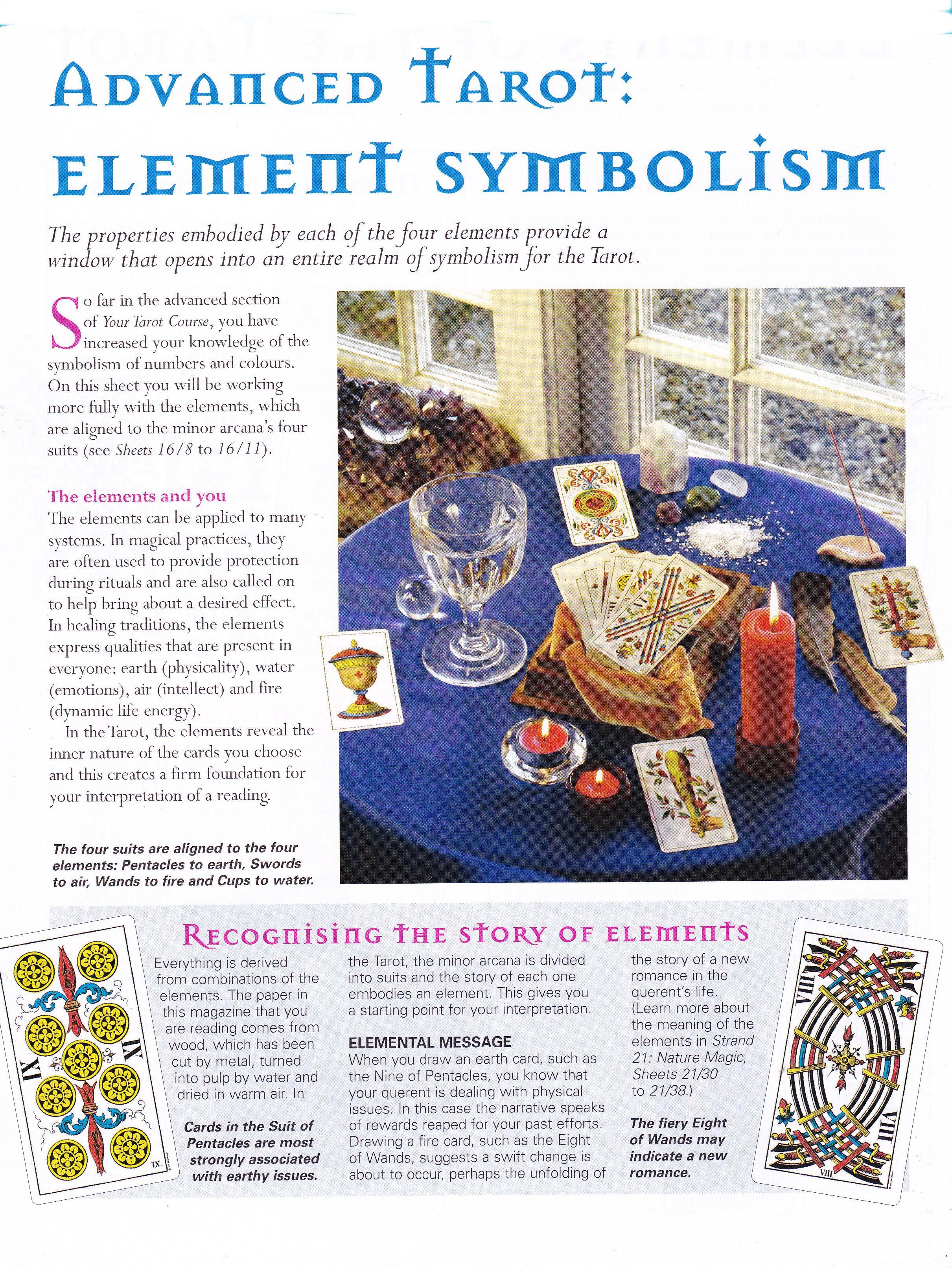 Advanced tarot element symbolism numerology chart pinterest advanced tarot element symbolism buycottarizona