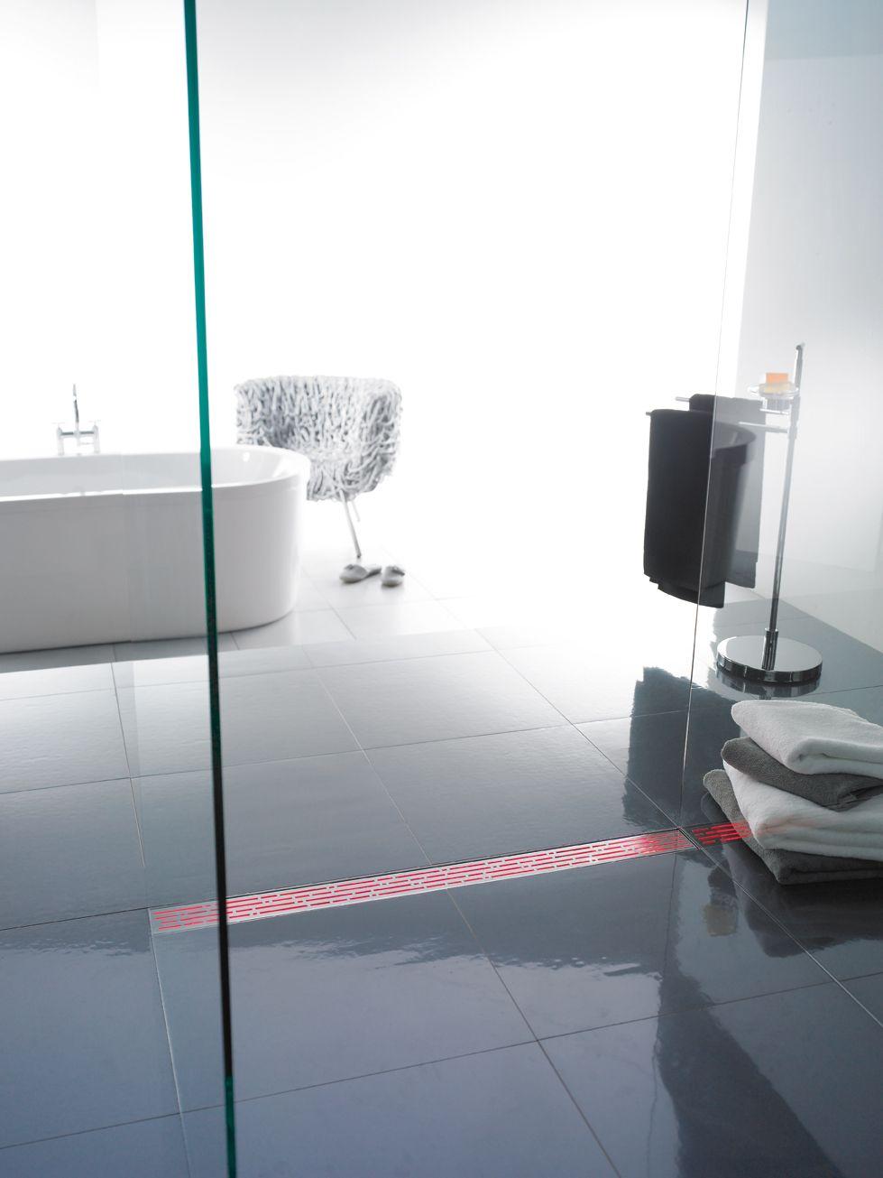 Douchegoot inloopdouche met led-verlichting - ACO ShowerDrain ...