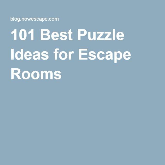 101 best puzzle ideas for escape rooms escape room game for Escape puzzle