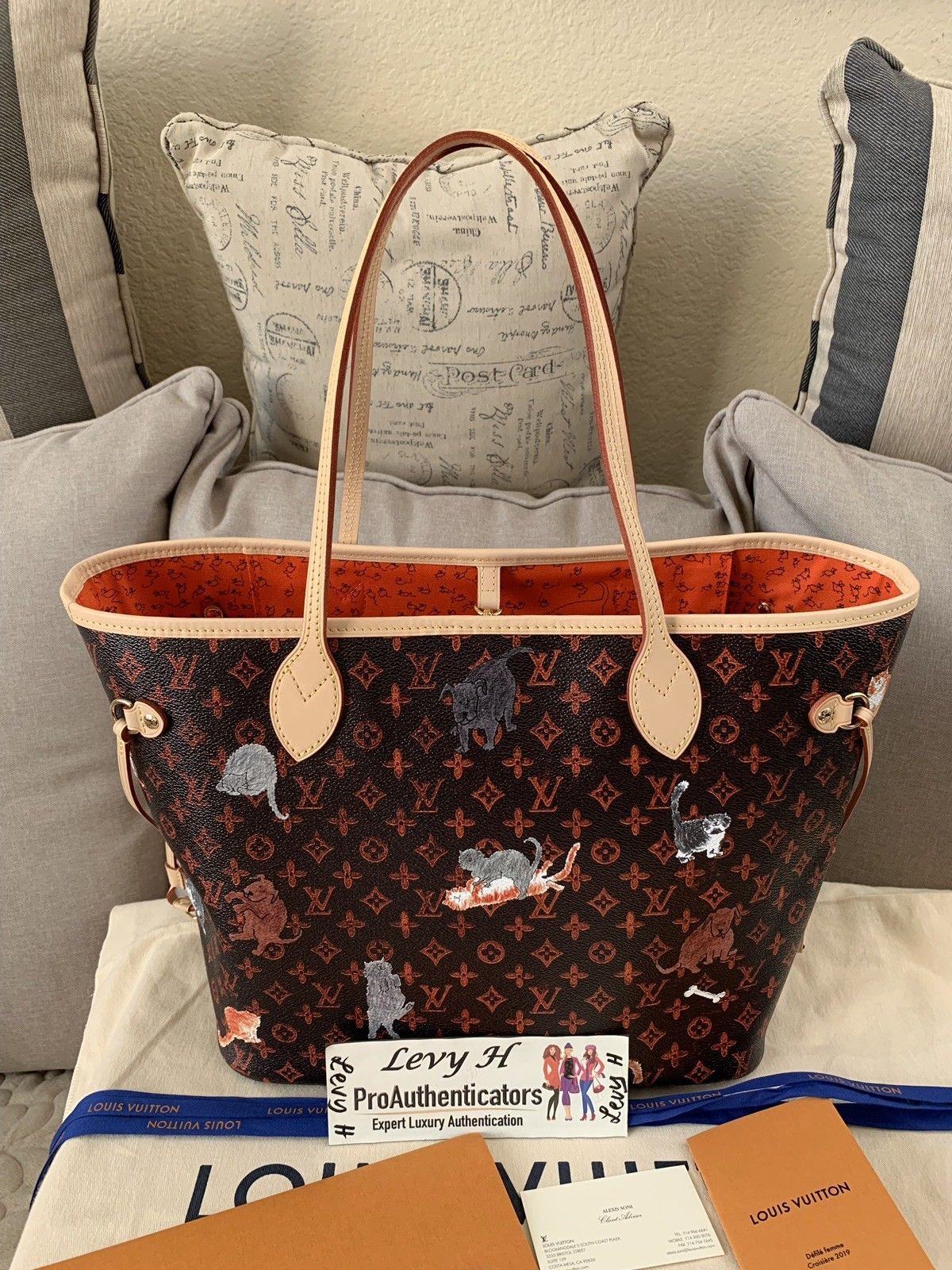 Experts Guide To Buying An Authentic Louis Vuitton Handbag >> Details About Authentic Louis Vuitton Neverfull Mm Shoulder Tote Bag