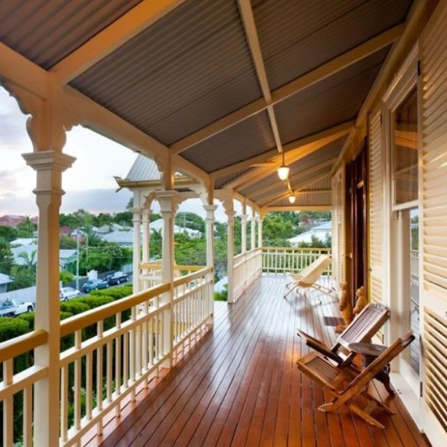 I'd love to own a queenslander with its verandahs and ...