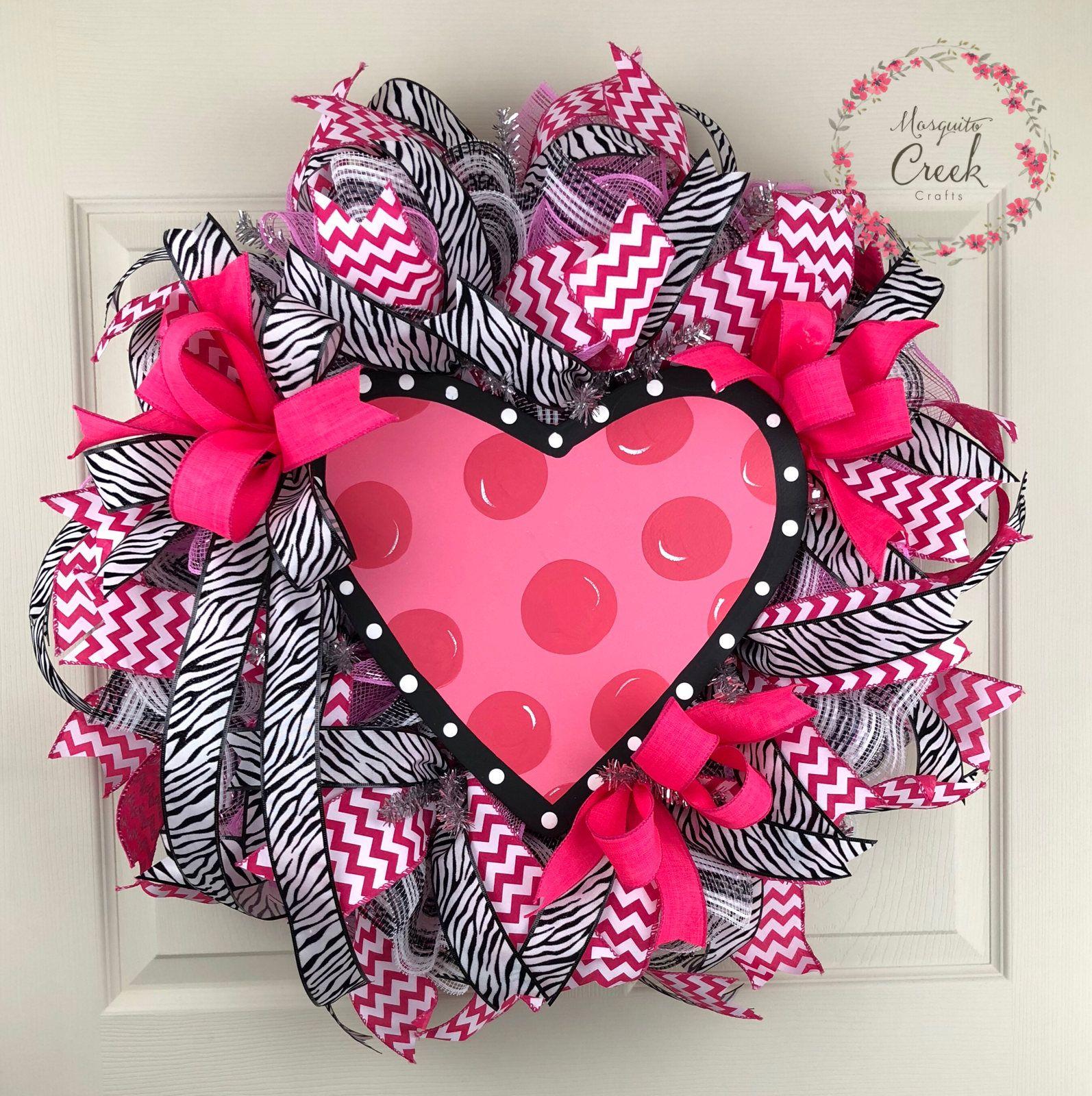 Valentines wreath for front door heart wreath valentines day valentines wreath for front door heart wreath valentines day wreath deco mesh valentines wreath pink outdoor wreath porch decor a beautiful valentine rubansaba