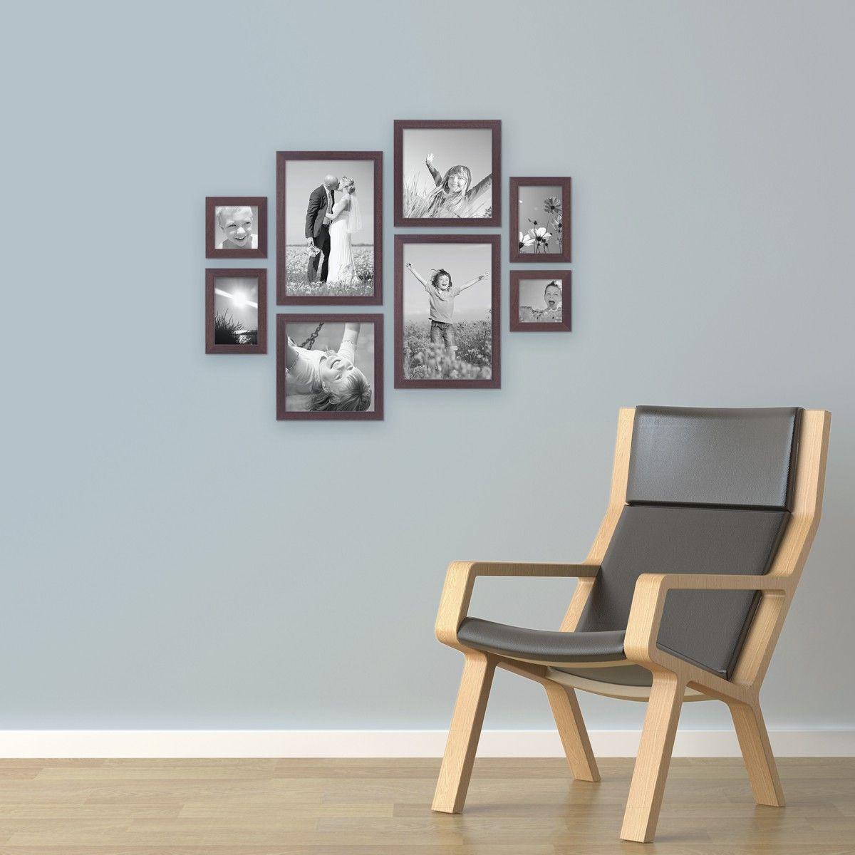 8er Set Bilderrahmen, Nuss, Modern   Bilderwände gestalten   Pinterest