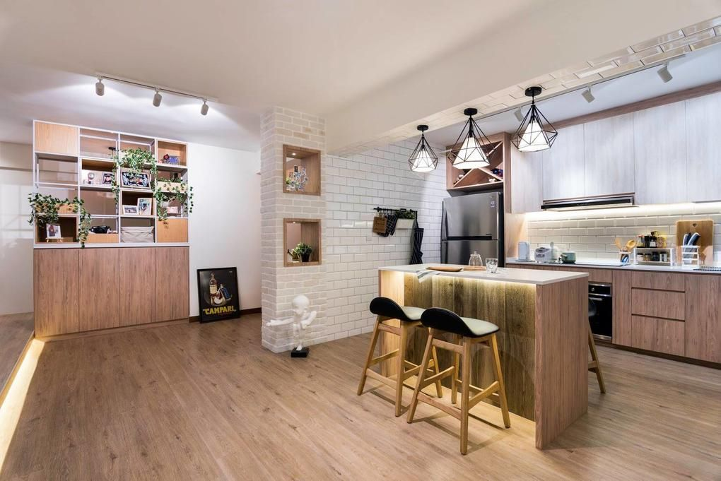 House Tour Scandinavian Style Cafe Inspired Five Room Hdb Bto Home Modern Kitchen Island Design Home Decor Home Interior Design