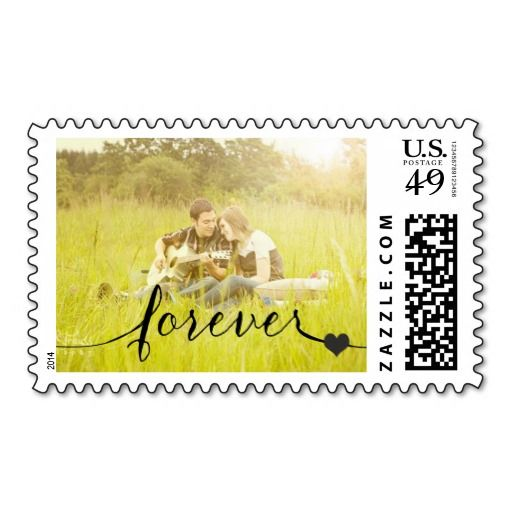 Forever Calligraphy Photo Wedding Stamp Order Stamps With Your