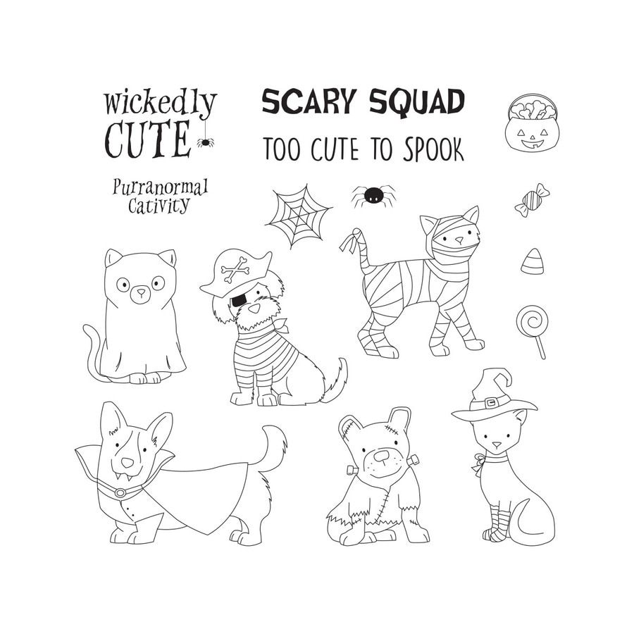 Cub Halloween And Fall.Festival 2020 Costumed Cuties Clear Photopolymer Stamp Set from the FSJ