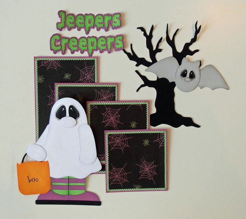 BLJ Graves Studio: Jeepers Creepers Halloween Sewn Mat Set