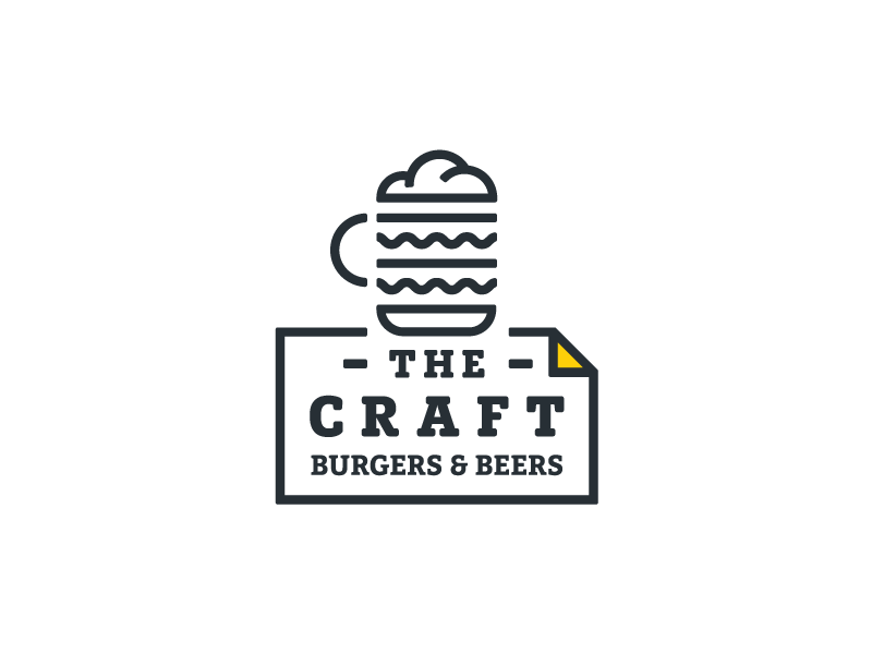 The Craft Burgers Beers Craft Burger Beer Logo Design Logo Design Branding Graphics