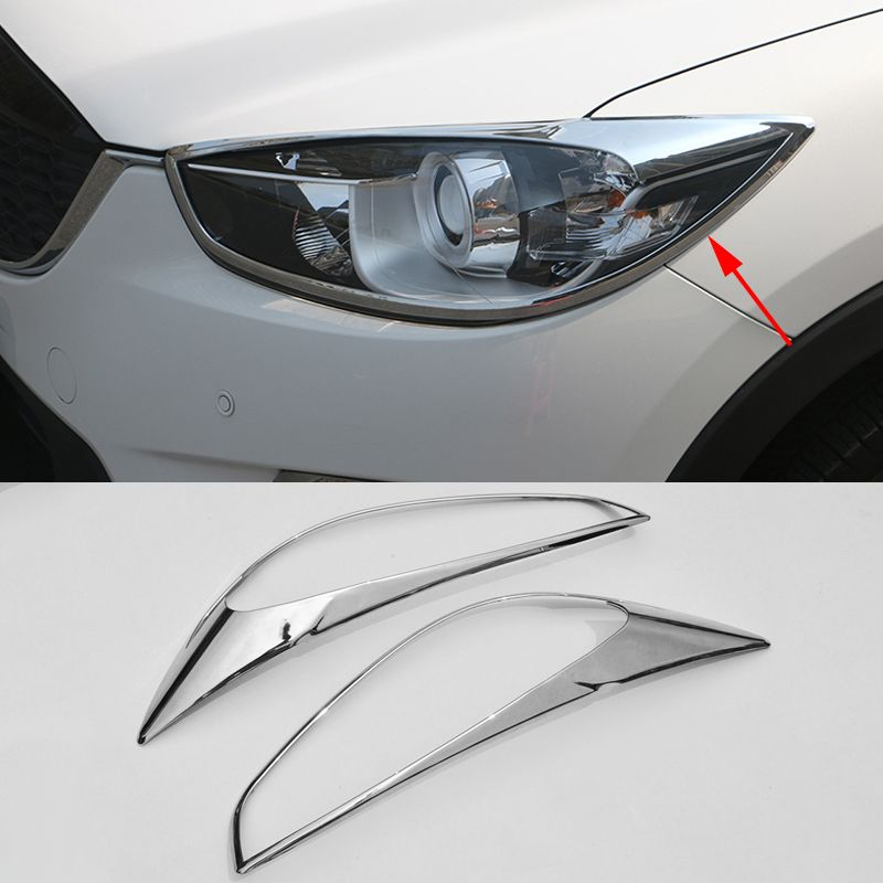 2016 Car Styling 2 Pcs Set Abs Trim Protection Accessories Headlight Frame Daytime Running Light Cover For Mazda Cx 5 2015 2016 Car Light Covers Running Lights