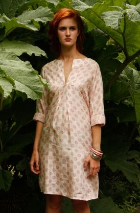 Silk tunic from Ruby and Ed - simple but effective neckline