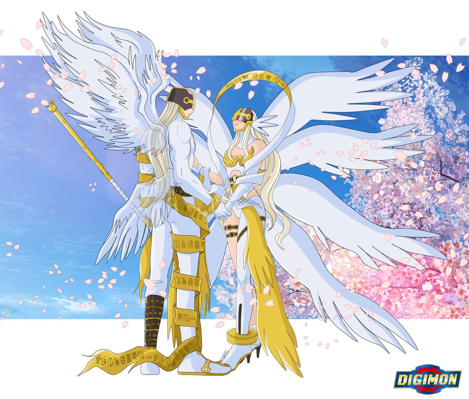 Meet Angemon And Angewomon From Reality XII By Ayhelenk On
