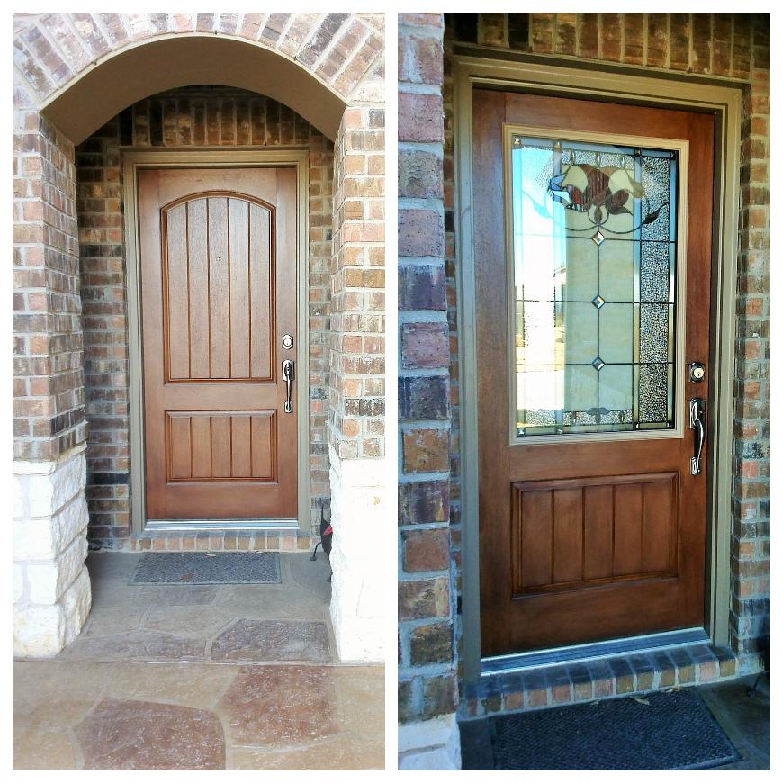 Want to add door glass to your front door no problem for Exterior doors with screen insert