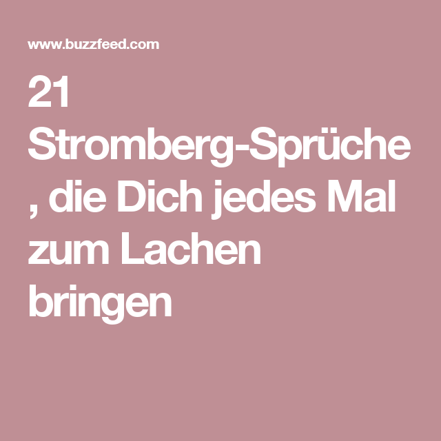 best of stromberg sprüche