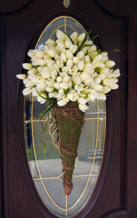 Spring Door Wreath Mothers Day Wreath White by forevermore1, $95.00