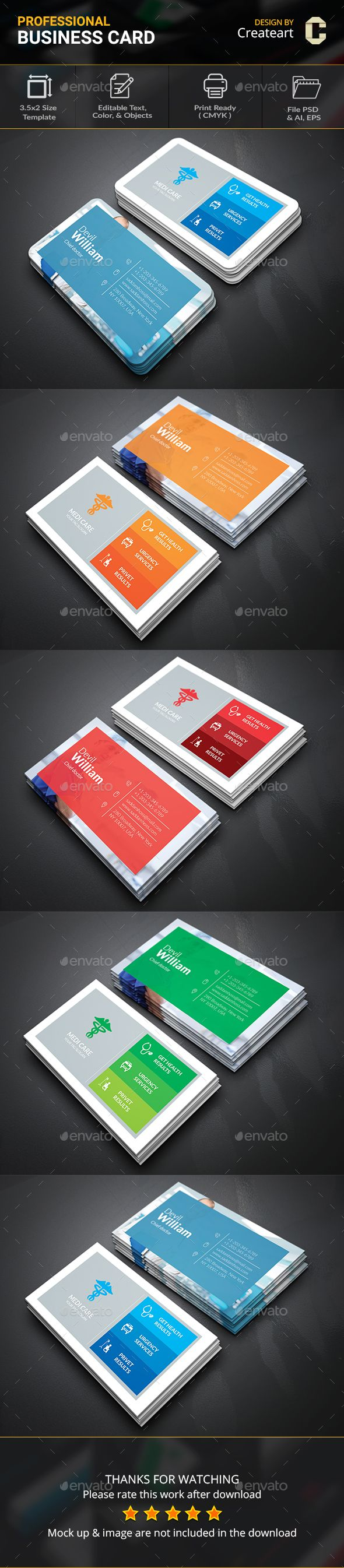 Medical Doctor Business Card  Medical Doctor Card Printing And